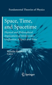 Cover image - Space, time, and spacetime: physical and philosophical implications of Minkowski's unification of space and time